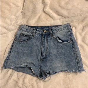 brandy meville denim shorts